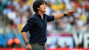 SALVADOR, BRAZIL - JUNE 16:  Coach Joachim Loew of Germany reacts during the 2014 FIFA World Cup Brazil Group G match between Germany and Portugal at Arena Fonte Nova on June 16, 2014 in Salvador, Brazil.  (Photo by Jeff Mitchell - FIFA/FIFA via Getty Images)